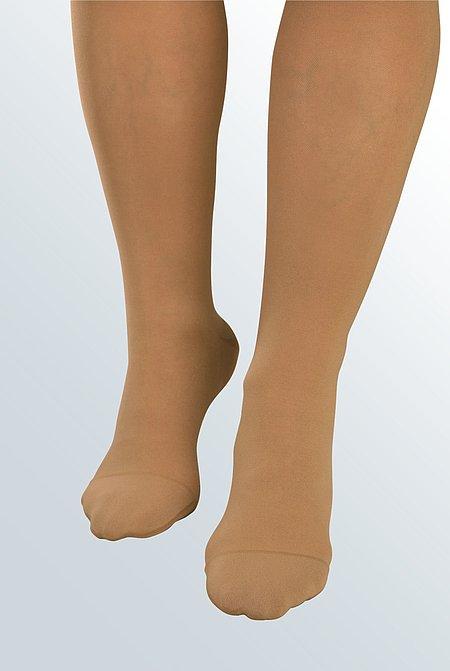 Softspitze Fuß Detailbild Rundstrick -
