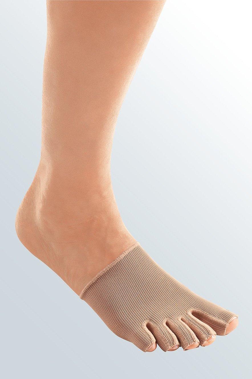 mediven 550 Bein Kompressionsstrümpfe Zehenkappe einzeln caramel -