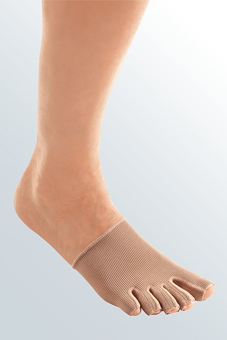 mediven 550 leg compression stockings single toe cap caramel