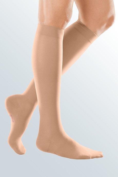 mediven elegance compression stockings knee-high caramel