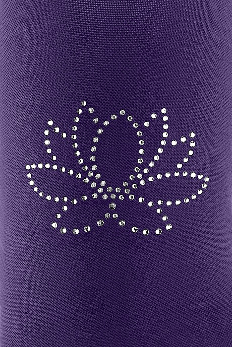 mediven compression stockings with swarovski crystals motive: water lily purple