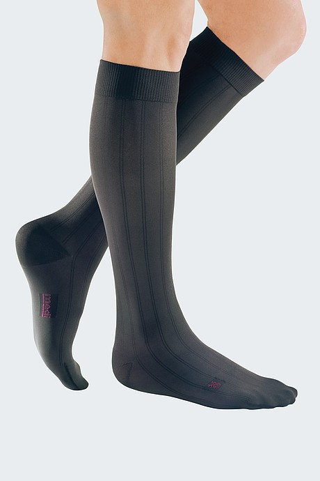 grey compression stockings for men