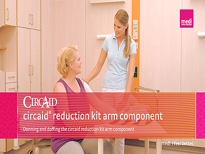 Donning and doffing the circaid reduction kit arm component