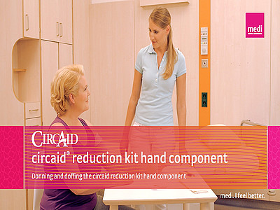 Donning and doffing the circaid reduction kit hand component