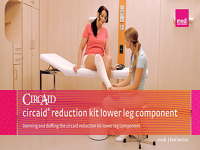Donning and doffing the circaid reduction kit lower leg component