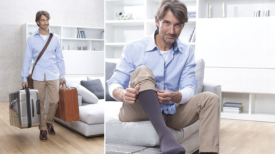 medi travel men travel socks man suitcase